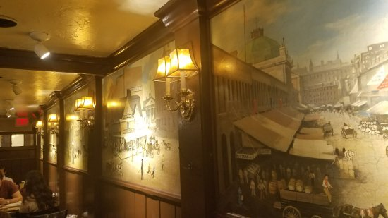 Union Oyster House Upper Dining Room Murals On Wall