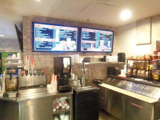 Casino at Don Laughlin's Riverside Resort: Sidewalk cafe in casino