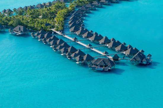 The St. Regis Bora Bora Resort: Aerial – OW Villas