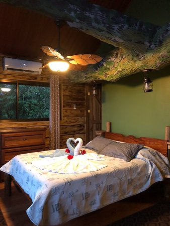 Leaves and Lizards Arenal Volcano Cabin Retreat: Bedroom at the Treehouse