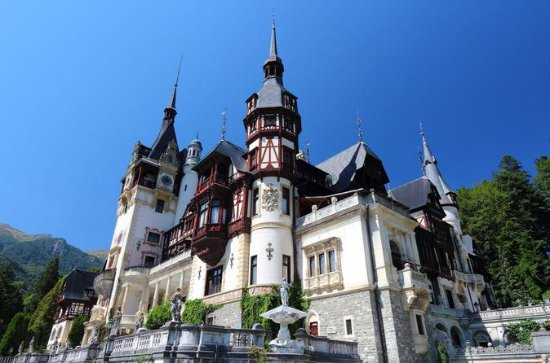 Peles , Pelisor and Bran Castle  on a...