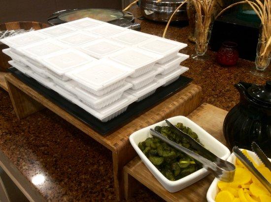Fiesta Resort & Spa Saipan: World Cafe breakfast - natto