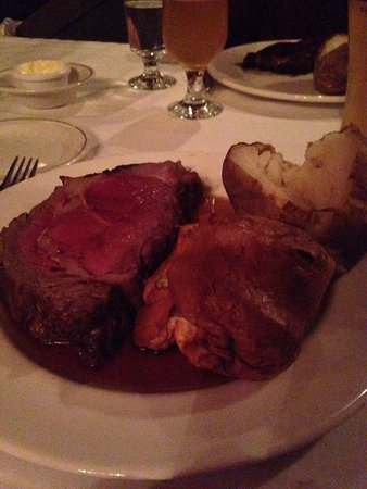 Barberian's Steak House: I have not had a piece of prime rib is tough for a very long time.