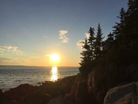 Beautiful sunset at Bass Harbor Lighthouse