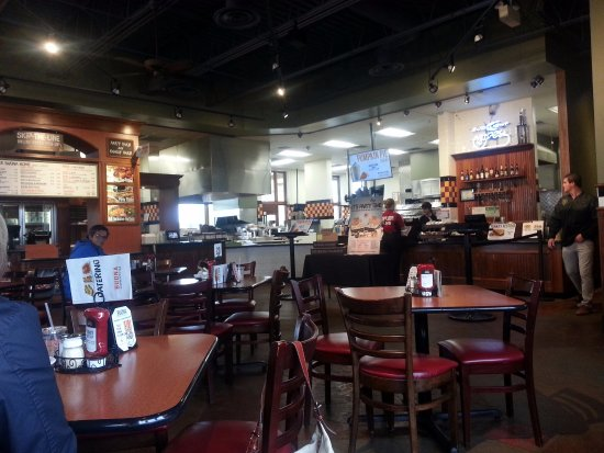 Glendale Heights, IL: dining area & counter at Buona