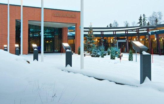 Eurajoki, Finlandia: Front side of Visitor centre in winter