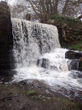 Matlock, UK: Waterfall at Lumsdale