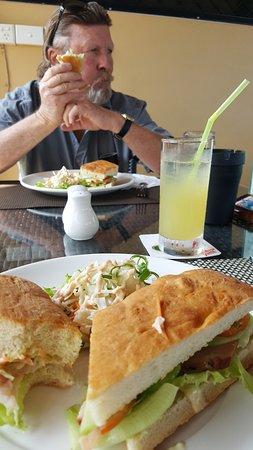 Moorings Restaurant & Bar: Marlin Foccaccio sandwich- Delicious.