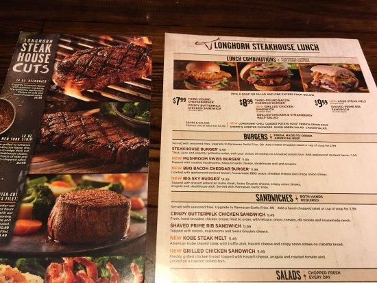 LongHorn Steakhouse, Cheektowaga - Menu, Prices ...