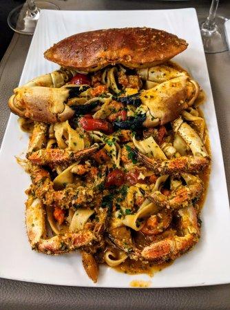 Fleurus, بلجيكا: Tagliatelle au crabe