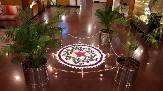 Fortune Park Galaxy,: Rangoli during Diwali days