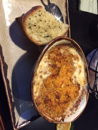 Raymond, NH: my lobster /seafood casserole and garlic bread