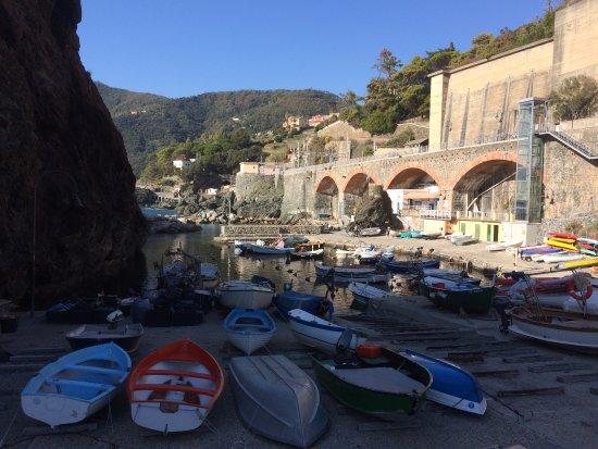 Framura, Italy: vista del porticciolo