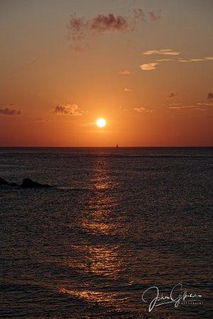 Cap Estate, Σάντα Λουσία: Sunset from room 1305