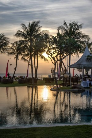 The Samaya Bali Seminyak: pool at sunset