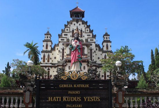 Church Of The Sacred Heart of Jesus: the sacred heart of Jesus church in Palasari Negara Bali
