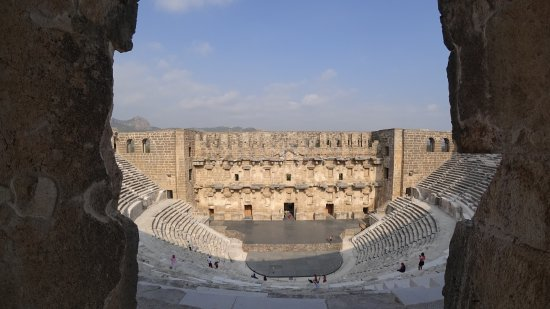Aspendos Ruins and Theater: Üstten