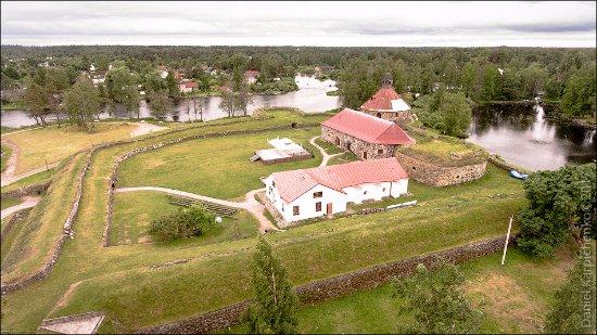 Priozersk, Russia: Вид на крепость с высоты.