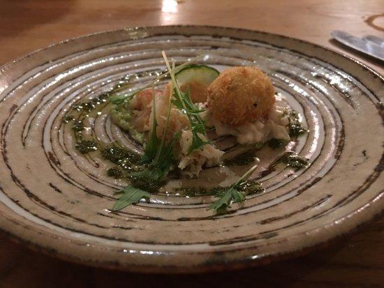 Stoke Mill Contemporary Fine Dining : Crab Cannelloni