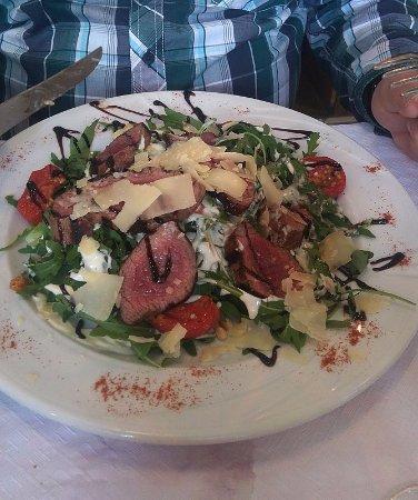 Rhode-Saint-Genese, Bélgica: ceci était une salade au boeuf