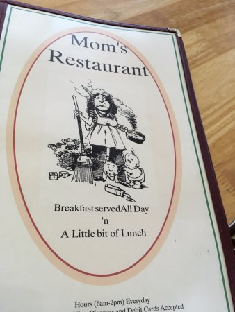 Cover of menu at Mom's in Uxbridge