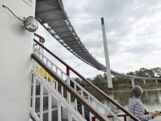River City Star Riverboat: Serpentine pedestrian bridge.