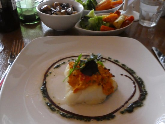 Yellow Pepper: cod filet with vegetables