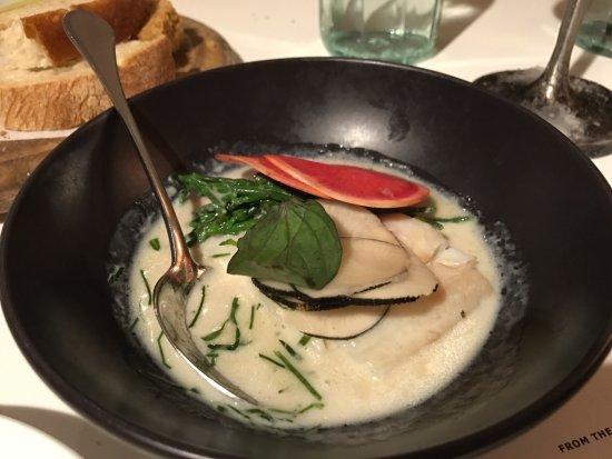 Ottolenghi - Islington: Pollock with coconut broth and thai basil