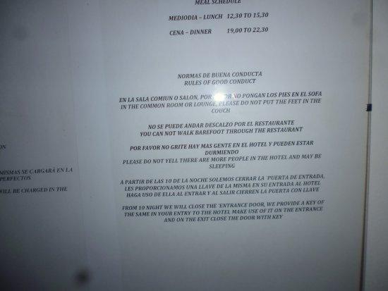 Parada de Francos: House rules