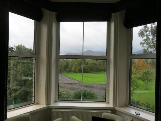 LakeSide House: Room Bay Window View looking south