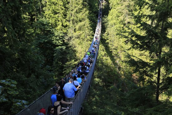 North Vancouver, Canadá: Going to the other side is always crowded but not on the way back.