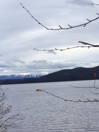 Purden Lake Provincial Park: view of mountains to the east of Purden lake