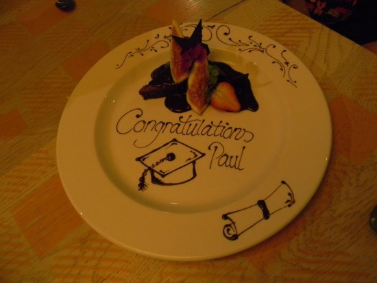 The restaurant went out of its way to do this for the celebrant