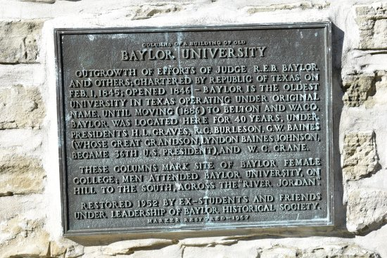 Independence, Техас: Baylor University Plaque