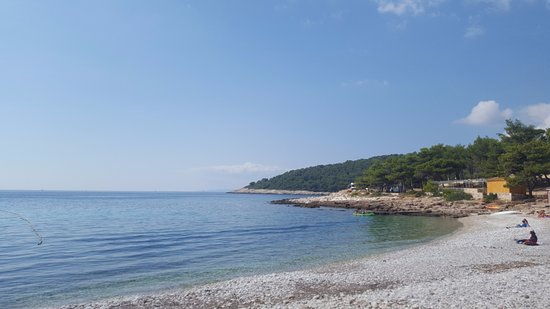 Milna, Croacia: View of the beach - literally steps from the hotel