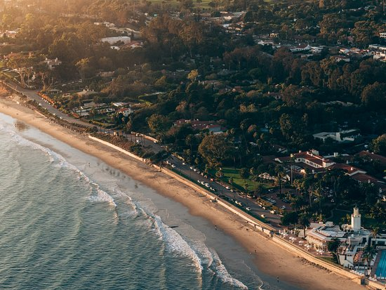 Butterfly beach aerial view picture of montecito california montecito ca butterfly beach aerial view publicscrutiny Choice Image