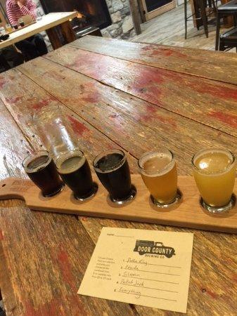Baileys Harbor, WI: Beer flight