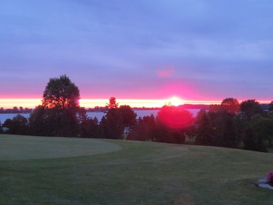 Sodus Point, NY: A beautiful view of the course with Sodus Bay in the background