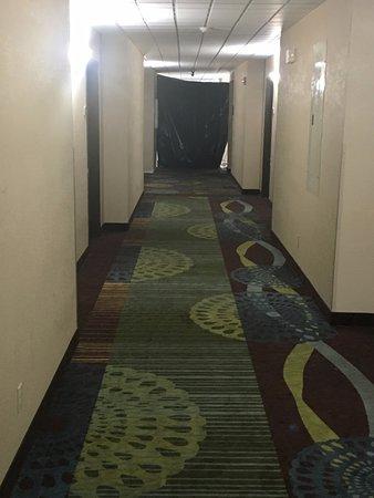 ลากรังจ์, เคนตั๊กกี้: View down the hall from our room (See black tarp)