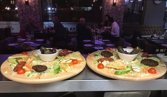 Prestwich, UK: Hot mezza platter