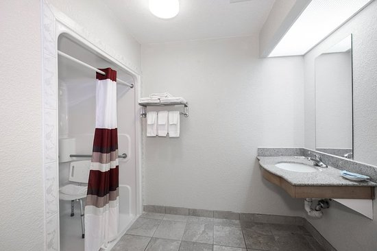 Ada Accessible Bath With Roll In Shower Picture Of Red