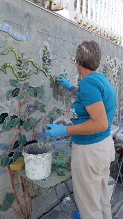 North Creek Mosaic Project: the artist, herself