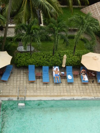 Saigon Domaine Luxury Residences: View of pool from room