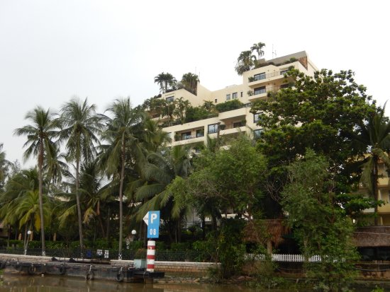 Saigon Domaine Luxury Residences: View of hotel and boat dock