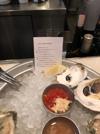 B & G Oysters: The oyster list