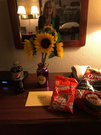 Staff helped my daughter set up an arrival surprise for me, Super 8 Portage La Prairie MB