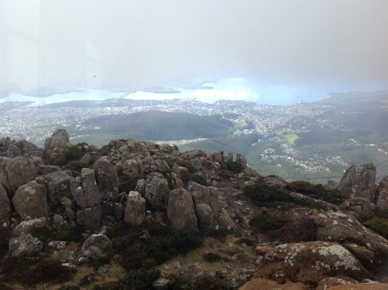 Mount Wellington: A clearing sky reveals glorious views.