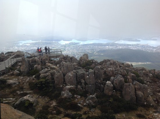 Mount Wellington: Hobart from the top.