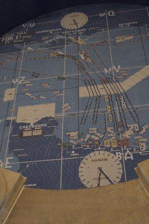 Bedford, VA: Mosaic of the dday plans inside Eisenhower's cupola.