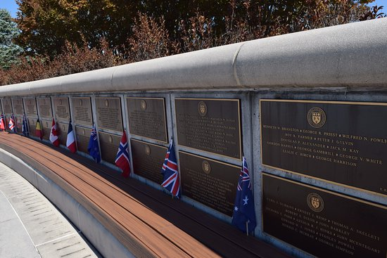 National D-Day Memorial: Our allies' memorial plaques.